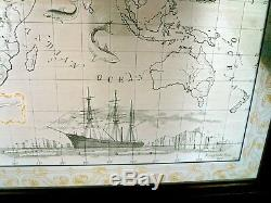 Royal Geographical Society Silver World Map Franklin Mint 1976 Limited Edition