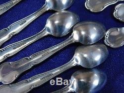 Set Of 50 Franklin Mint State Flower Sterling Silver Salt Spoons Excellent