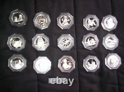 Set of 15 Indian Tribal Series with Silver medallions signed and numbered
