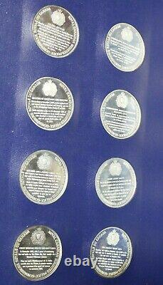 Set of 48 RCMP Silver Medals over 55oz. Silver in Album by Franklin Mint