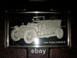 Silver Car Ingot Collections (set Of Two Regular + Mini) By The Franklin Mint
