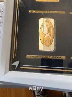 Silver & Gold Official Star Trek Insignia Badges Set Series 2 Franklin Mint COA