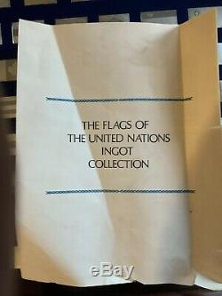 Silver Ingot Flags of the United Nations Franklin Mint 136 Oz Sterling Silver