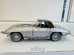 Silver Pearl 1967 Corvette 427/390 Conv/Hardtop #111/435 Franklin Mint 124
