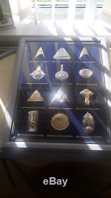 Star Trek 24 Solid Silver Official Insignia Badges & Case Franklin Mint
