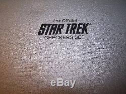 Star Trek Franklin Mint 1989 25th Anniversary checkers GOLD+SILVER set=EC