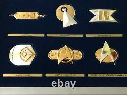 Star Trek Franklin Mint Set of 2 Insignia Collections. 925 Sterling Silver/Gold
