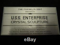Star Trek Franklin Mint U. S. S. Enterprise In Crystal, Gold And Silver New