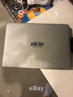 Star Trek Gold & Silver Checker Set of 24 in Display Case- Franklin Mint (FM-05)