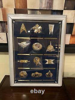 Star Trek Insignia Sterling Silver Series With Display Franklin Mint