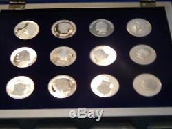 Star Trek Intergalactic Commemorative Silver Coin Collection-franklin Mint