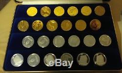 Star Trek-Official Franklin Mint 24 Carat Checkers set-1893-gold/silver