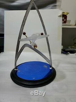 Star Trek U. S. S. Enterprise Crystal Gold & Silver Sculpture Franklin Mint