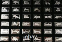 Sterling Silver Cars Miniature Collection. 925 1g x 100 BOX Franklin Mint + COA