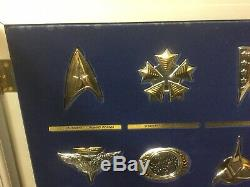 Sterling Silver & Gold STAR TREK INSIGNIA COLLECTION Franklin Mint 1992 MINT