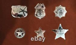 Sterling Silver OFFICIAL BADGES OF GREAT WESTERN LAWMEN by Franklin Mint