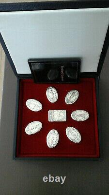 Sterling Silver Snuff Box Collection, Guards Regiments by Franklin Mint 1978