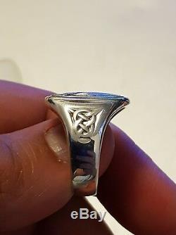 Super Rare Georg Jensen Men's Sterling Silver Eagle Ring From Franklin Mint