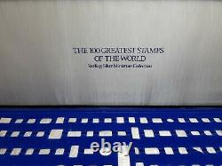 THE 100 GREATEST STAMPS OF THE WORLD STERLING SILVER MINIATURE Franklin Mint