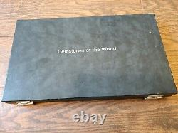 THE FRANKLIN MINT GEMSTONES OF THE WORLD SILVER INGOT & GEM With COAs
