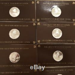 THE GREAT EXPLORERS OF CANADA Silver Coin 26 pieces Franklin Mint