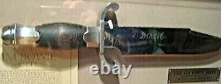 THE JIM BOWIE KNIFE FRANKLIN MINT with SHOW CASE CERTIFICATE OF AUTHENTICITY COA