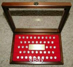 THE KINGS AND QUEENS OF ENGLAND Silver Mini Coin Collection. 925 Franklin Mint
