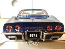 Targa Blue' 1972 LT-1 Corvette Stingray convertible/hardtop Franklin Mint 124