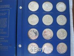 Texas Under Six Flags Medal Set Franklin Mint 60 Oz Silver