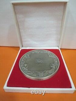 The Franklin Mint 1974 Calendar/ Art Medal 10 oz. Sterling Silver