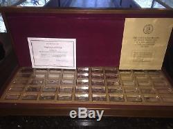 The Franklin Mint Bankmarked Sterling Silver Ingots 50 1000-grain Ingots