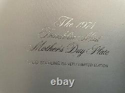 The Franklin Mint Limited Edition Spencer Sterling Mother's Day Plate 1974