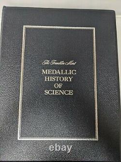 The Franklin Mint Medallic History Of Science Sterling Silver Coins Book