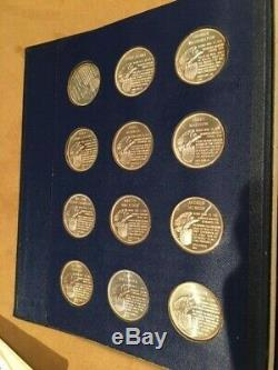The Franklin Mint Presidential Commemorative Medals American Express Ed. Silver