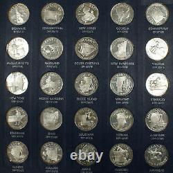 The Franklin Mint States of the Union Series 1st Edition Silver Coin Proof Set