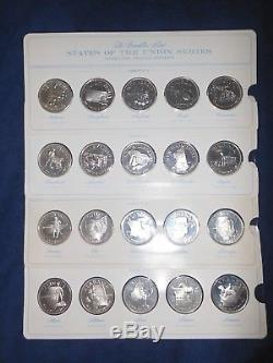 The Franklin Mint States of the Union Series 1st Edition Sterling Silver PF Set