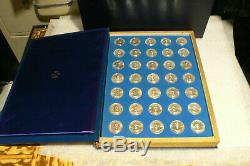 The Franklin Mint, Treasury Of Presidential Commemorative Medals Set, Silver