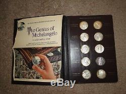 The Genius Of Michelangelo 60 Coin/medal Sterling Proof Set By Franklin Mint