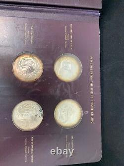 The Genius Of Michelangelo Franklin Mint Sterling Silver Coin Medallions