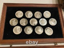 The Genius of Rembrandt Franklin Mint's Sterling Silver 50 Medallions withcase