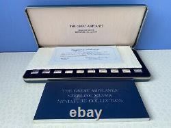 The Great Airplanes Sterling Silver 50 Miniatures Collection in Presentation Box