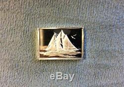 The Great Sailing Ships Of History Franklin Mint 50 Mini Ingot Sterling Silver
