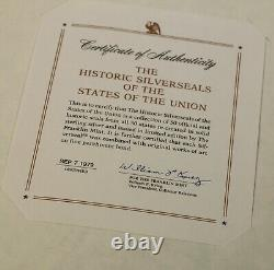 The Historic Silverseals of the States of the Union 50 Sterling Silver Medals