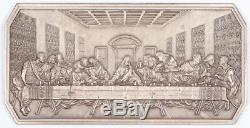 The Last Supper Fritz Weiland Franklin Mint Art Bar. 999 Silver 5.2 ozt DaVinci
