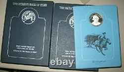The Patriots Hall of Fame Proof Set, 20 sterling silver medals Franklin Mint