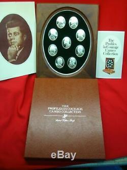 The Profiles In Courage Cameo Collection Franklin Mint -9 Oval Sterling Ingots