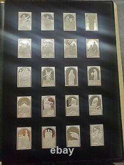 The Silver Bible Minted by the Franklin Mint 100 Sterling Silver Tablets