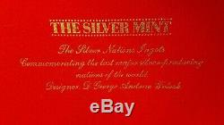 The Silver Mint Nations Ingot Set Of 12.999 Fine Silver 240.0 grams