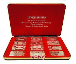 The Silver Mint Nations Ingot Set Of 12.999 Fine Silver 241.6g Total A9544
