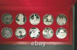 Tunisia 1969 Franklin Mint Proof Silver 10 Coin 1 Dinars with Box & COA m